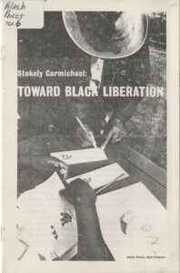 Toward Black Liberation - Stokely Carmichael, 1966