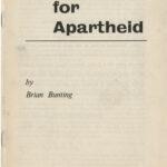 Education for Apartheid, Brian Bunting, undated