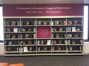 April 16th 2017 exhibit in Newman Library