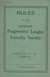 Rules of the Barbados Progressive League Friendly Society, 1940