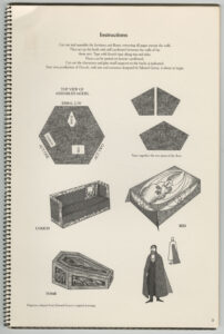 Dracula: A Toy Theatre by Edward Gorey (1979), instructions and dolls