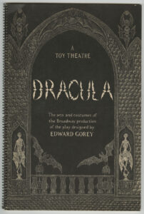Dracula: A Toy Theatre by Edward Gorey (1979), cover