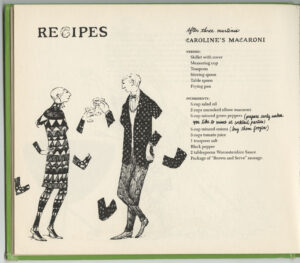 Son of a Martini Cookbook by Jane Trahey and Daren Pierce and drawings by Edward Gorey, recipe page 1