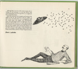Son of a Martini Cookbook by Jane Trahey and Daren Pierce and drawings by Edward Gorey, recipe page 2