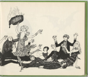 Son of a Martini Cookbook by Jane Trahey and Daren Pierce and drawings by Edward Gorey, title page 2