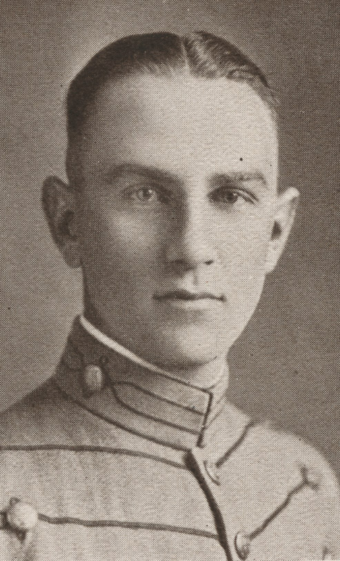 Head shot of Robert Hughes in cadet uniform
