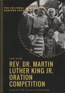 The 2018 Rev. Dr. Martin Luther King Jr. Oration Competition, p. 1