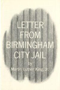 Cover, Letter from Birmingham City Jail by Dr. Martin Luther King, Jr., May 1963, from Bishop Marmion Papers