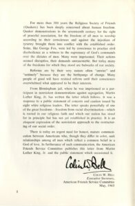 P. 2, Letter from Birmingham City Jail by Dr. Martin Luther King, Jr., May 1963, from Bishop Marmion Papers