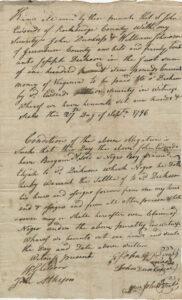 Bill of Sale for a slave named Elijah, 12 years old, 27 September 1796