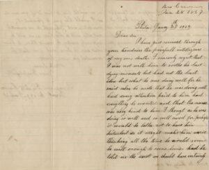 Letter from Elizabeth Carver to Edgar Knapp, 28 January 1863, page 1