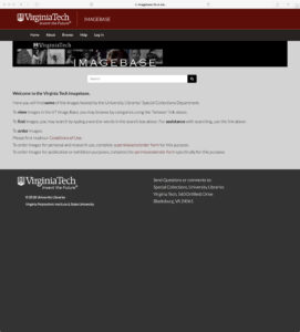 Screenshot of old ImageBase website on May 21, 2018 (archive-it.org)