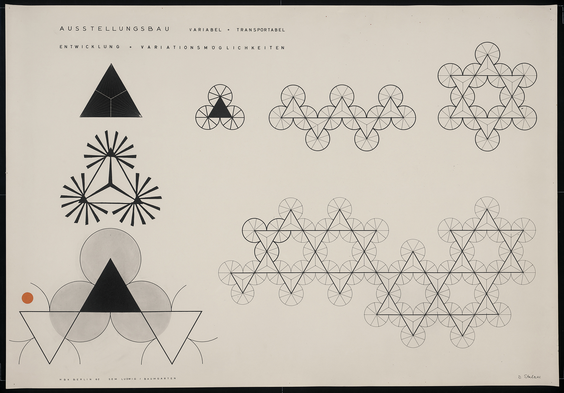 Drawing showing interlocking shapes.