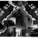 Images combined to create an abstract staircase.