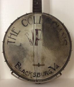 """The Collegians, VPI, Blacksburg, VA"", banjo head, c1924"