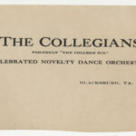 The Collegians letterhead, c1924, Lewis A. Hall Papers, Ms1983-009