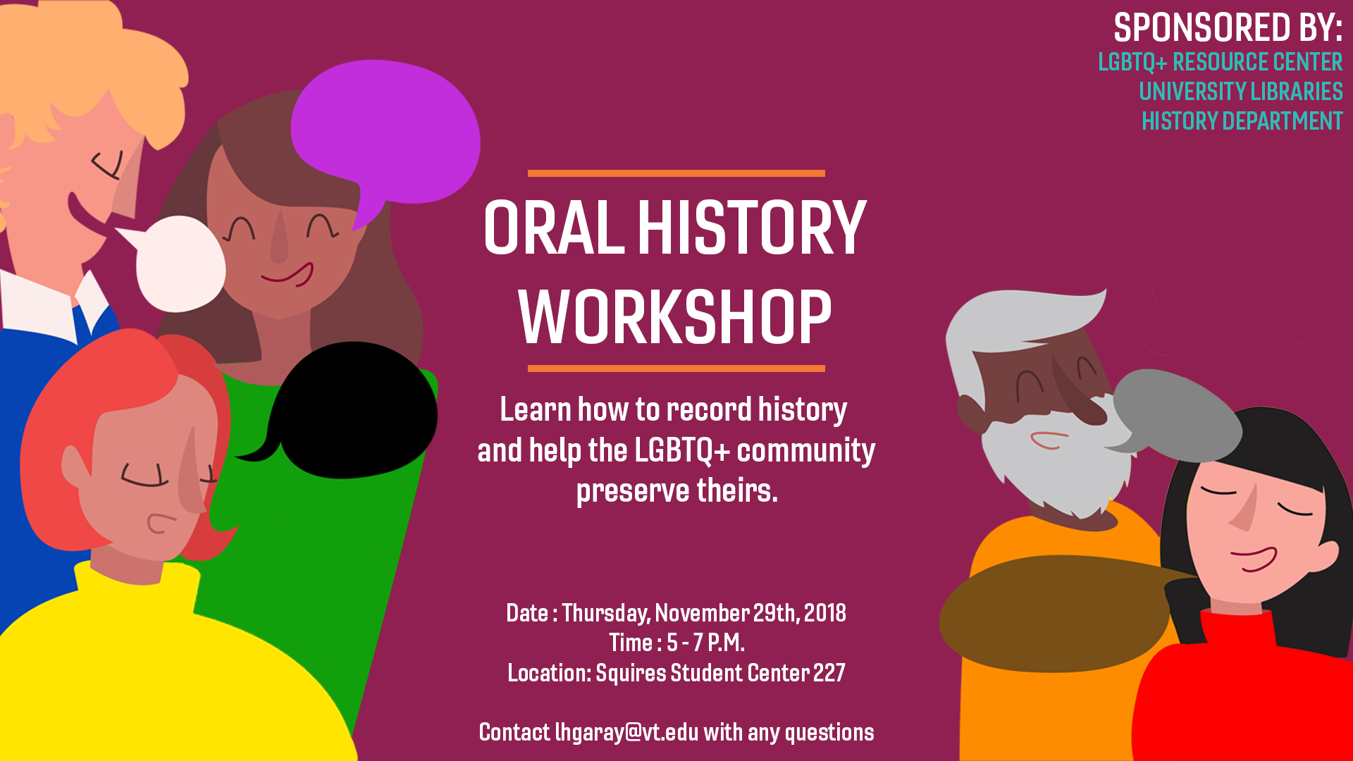 Oral History Workshop banner ad