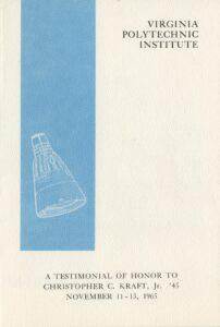 Commemorative Program from Convocation to Honor Kraft, November 1965 (cover)