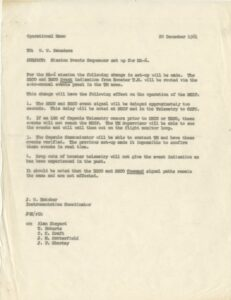 Interior page of Kraft's copy of the Mission Rules for MA-6/13, John Glenn's orbital mission, flown 20 February 1962