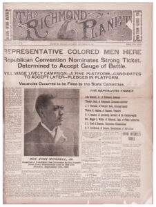 Front page, Richmond Planet, 10 September 1921