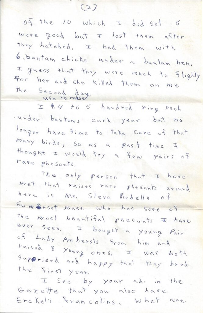 Page 2 of letter from Henry Safranek to M.L. Foley dated October 23, 1959