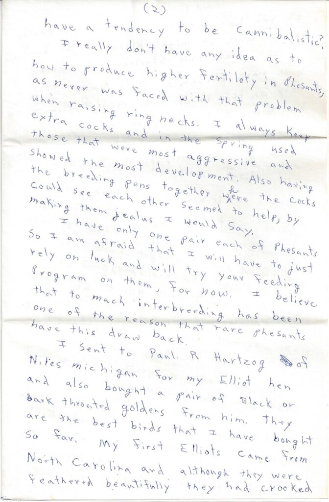 Page 2 of letter from Henry Safranek to M.L. Foley dated November 19, 1959