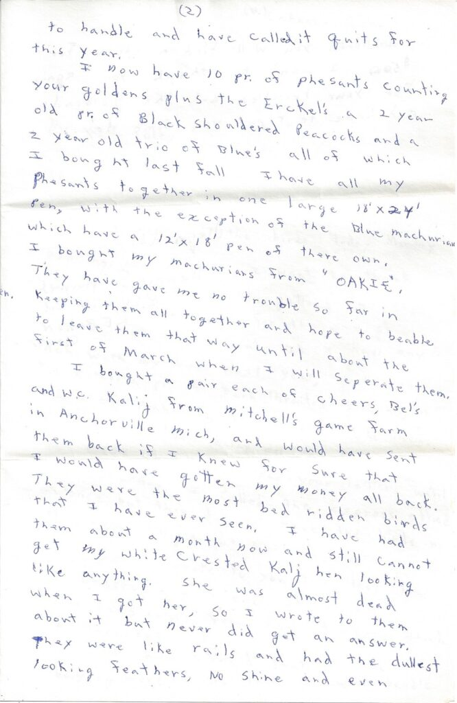Page 2 of letter from Henry Safranek to M.L. Foley dated December 14, 1959