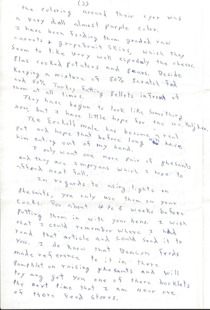 Page 3 of letter from Henry Safranek to M.L. Foley dated December 14, 1959