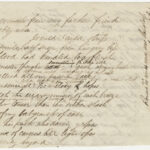 Draft of poem, p. 1, by Theodore Winthrop from the Theodore Winthrop Papers, Ms2021-004