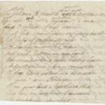 Draft of poem, p. 2, by Theodore Winthrop from the Theodore Winthrop Papers, Ms2021-004