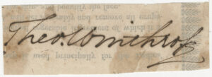 Signature of Theodore Winthrop from the Theodore Winthrop Papers, Ms2021-004